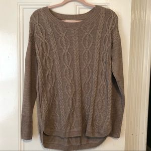 New York & Company crew neck cable knit sweater